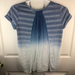 Miss Me Tops - Miss Me Embellished Short Sleeve Shirt Ombre SZ M